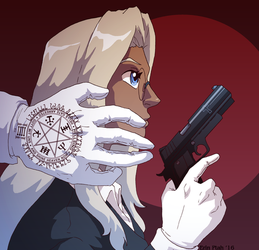 Girl with a gun by ErinPtah