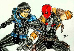 Redhood vs Nightwing by RedWing99