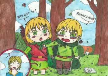 aph: Sibling rivalry by LoveEmerald