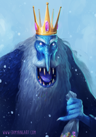 Adventure Time: Ice King by SamYangArt