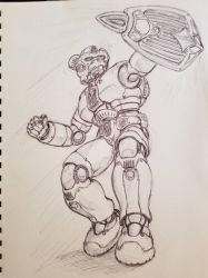 Robo-Bear sketch by GTDees