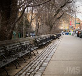 Long Row Of Benches by steeber