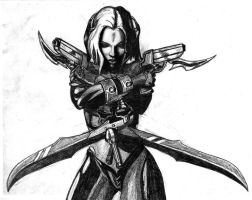 BloodRayne art Sketch by Drimakus