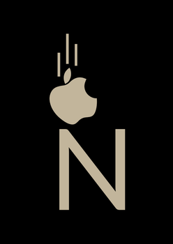 Newton and apple by ZaidTariq