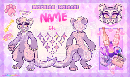 Auction CLOSED: Sparkly Marbled Polecat by Dolcisprinkles