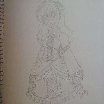 CP OC: Slender Doll Ally Sketch by InvaderIka