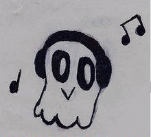 inktober 7 tiny Napstablook by gabby0004
