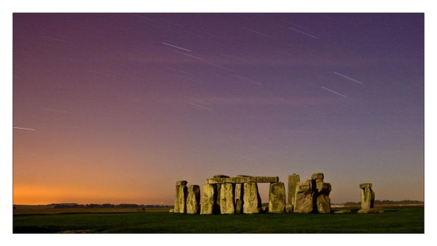 Stonehenge Startrails by mellow-d