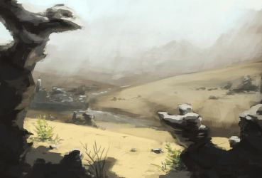 Desert Speedpaint by Tigzz
