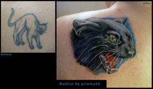 Mad Cat cover up by grimmy3d
