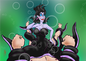 Ursula the Sea Witch gets mimified! by mistersnow