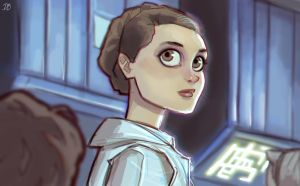 Leia - Empire Strikes Back by DaveJorel