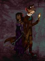 Steampunk!Basil and Amber by ALS123