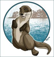 Otter by loudnserene