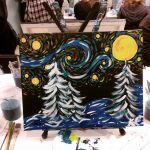 Wintery Starry Night by MyThoughtsAreDeep