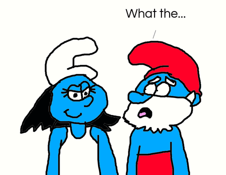 Papa Smurf Saw Evil Smurfette!!! by MikeEddyAdmirer89