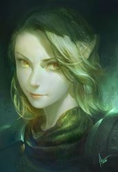 female portrait -green by ANG-angg