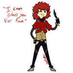 I can stab you for fun. by Clockwork-Gears