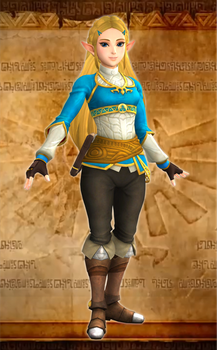 Hyrule Warriors Zelda (BoTW outfit) XPS download by Chaotixninjax