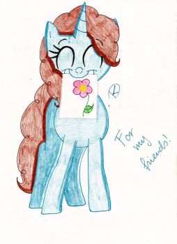 I drawed for my friends! by HappyDia