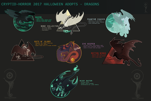2017 Halloween Dragon Adopts [Eye Keeper $30!] by Cryptid-Horror
