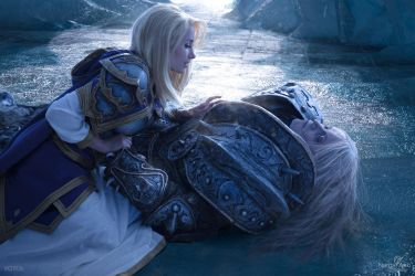 Arthas and Jaina - Fall of the Lich King by Narga-Lifestream