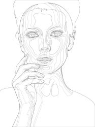 Beauty Line Drawing by jasonserres