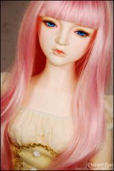 Angelina with a pink wig 002 by VelvetBat