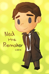 Ned The Pie Maker by CrystalBluePuppy