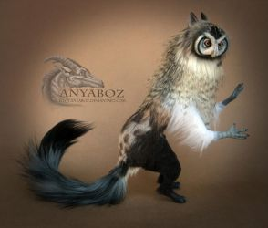 White Faced Owl Room Guardian by AnyaBoz