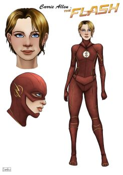 The Flash . Carrie Allen by ZpanSven