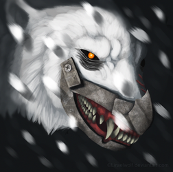 Lost in a snow storm by Liraelwolf