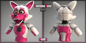 Funtime Foxy!! WIP (I'm slow as fuck!!) by Qutiix