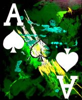 POKER ART GALAXY SPADES by TEOFAITH