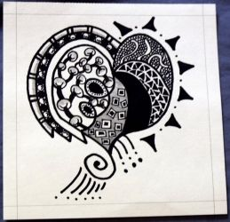 Heart Shaped Zentangle by mintdawn
