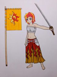 Sunset Shimmer, Samurai Armor (collab) by MetalAmethyst