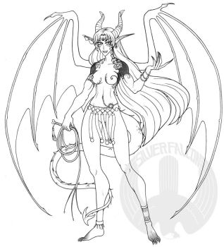 Succubus Queen lines by Silver-Falcon