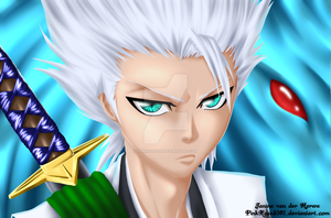 Hitsugaya -Lineart Colouring Contest- by PinkRose3101