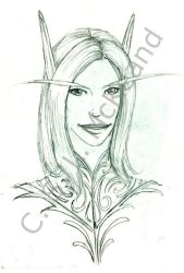 WIP 01: Portrait - Vonora by teutelquessir