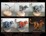The Making of Survival - Nanaki/Red XIII by emilySculpts