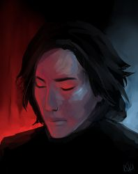 Kylo Ren Light Study by AkiDead