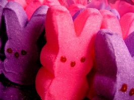 Pink and Purple Bunny Peeps by Tanya555
