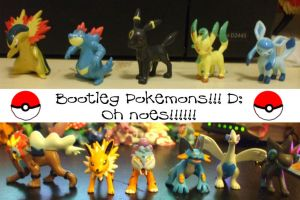 Bootleg Pokemon Figures by Bloodthirstwolf