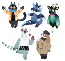 Assorted Adopts [Closed] by catdoq