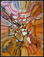 oldpaintingrevisited abstract digital redbrown by santosam81