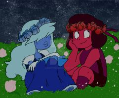 Ruby and Sapphire by secretfusion