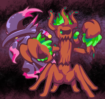 Trevenant and Mismagius