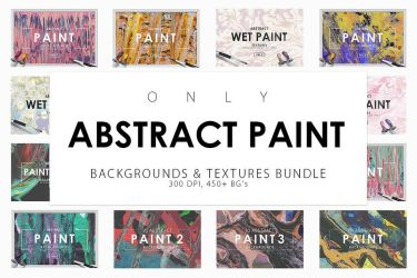 Only Paint Backgrounds Bundle by GraphicAssets
