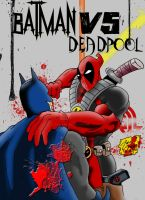 Deadpool VS Batman colors by BIG-D-ARTiZ