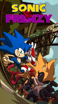 Commission: Sonic vs Frenzy by Aerobian-Angel